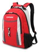 рюкзак , красный/серый/серебристый, полиэстер 600D/хонейкомб, 32x15x45 см, 22 л / Wenger