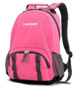 рюкзак , розовый/серый, полиэстер 600D/добби, 32х14х45 см, 20 л / Wenger