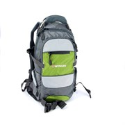 Рюкзак , серый/зеленый/серебристый, полиэстер 1200D PU, 23х18х47 см, 22 л / Wenger