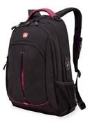 рюкзак , черный/фукси, фьюжн/2 мм рипстоп, 32x15x46 см, 22 л / Wenger