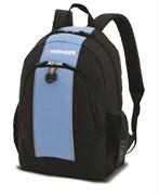 рюкзак , чёрный/голубой, полиэстер, 32х14х45 см, 20 л / Wenger