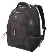 рюкзак , чёрный/красный, полиэстер 900D/М2 добби, 34x23x48 см, 38 л / Wenger
