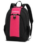 рюкзак , чёрный/розовый, полиэстер, 32х14х45 см, 20 л / Wenger