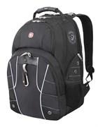 рюкзак , чёрный/серебристый, полиэстер 900D/600D/искуственная кожа, 34x18x47 см, 29 л / Wenger