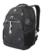 рюкзак , чёрный/серебристый, полиэстер 900D/М2 добби/искуственная кожа, 34x22x46 см, 34 л / Wenger
