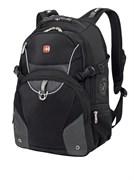 рюкзак , чёрный/серый, 2 отделения, карман-органайзер, полиэстер, 36х19х47, 32 л / Wenger