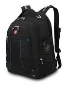 рюкзак , чёрный/синий, полиэстер 900D/рипстоп, 36x19x47 см, 32 л / Wenger