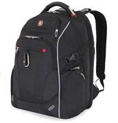 """Рюкзак WENGER, Scansmart 15"""", чёрный/красный, полиэстер 900D/добби, 34x22x46 см, 34 л"""