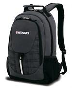 Рюкзак WENGER, серый/чёрный, полиэстер 600D, 32х14х45 см, 20 л