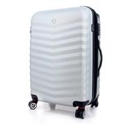 чемодан FRIBOURG, серебристый, АБС-пластик, 38x28x60 см, 64 л / Wenger