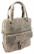 """сумка вертикальная """"STONEHIDE"""", коричневый, кожа, 33x34x12 см / Wenger"""