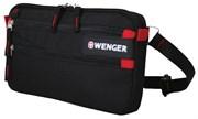 сумка на пояс , чёрный, полиэстер 600D, 32х3х17.5 см / Wenger