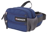 Сумка на пояс WENGER, синий, полиэстер M2, 23х9х7 см