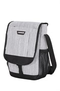 Сумка наплечная вертикальная WENGER, cерая, ткань Grey Heather/ полиэстер 600D PU, 28x7,6x34,3см
