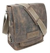 """сумка наплечная вертикальная А4 """"ARIZONA"""", коричневый, кожа, 35х13х36 см / Wenger"""