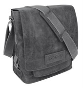 """сумка наплечная вертикальная А4 """"ARIZONA"""", черный, кожа, 35х13х36 см / Wenger"""