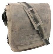 """сумка наплечная вертикальная А4 """"STONEHIDE"""", коричневый, кожа, 35х13x36 см / Wenger"""