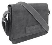"""сумка наплечная горизонтальная А4 """"ARIZONA"""", чёрный, кожа, 30х7x25 см / Wenger"""