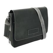 """сумка наплечная горизонтальная А4 """"ARIZONA"""", чёрный, кожа, 39х10x31 см / Wenger"""