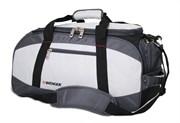 сумка спортивная , серый/чёрный, полиэстер 1200D, 52х25х30 см, 39 л / Wenger