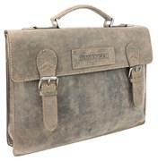 """портфель """"STONEHIDE"""", коричневый, кожа, 39x5x30 см / Wenger"""