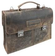 "портфель двусторонний ""ARIZONA"", коричневый, кожа, 40x11x31 см / Wenger"