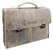 """портфель двусторонний """"STONEHIDE"""", коричневый, кожа, 40x29x13 см / Wenger"""