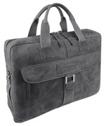 """портфель на молнии """"ARIZONA"""", чёрный, мягкая кожа, 55x11x40 см / Wenger"""