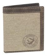 портмоне Canvas Hunter, коричневый, воловья кожа/ткань, 10,5х3х12,5 см / Wenger