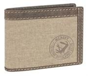 портмоне Canvas Hunter, коричневый, воловья кожа/ткань, 12,5х3х9,5 см / Wenger