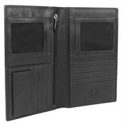 портмоне для документов Alphubel, черный, кожа наппа, 12х1,5х22 см / Wenger