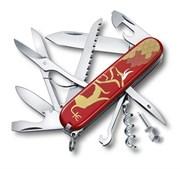 Нож перочинный VICTORINOX Huntsman Год быка 2021, 91 мм, 16 функций, красный